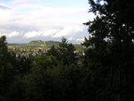 Site is located on 70th and Pine, on Mt Tabor. Clear view of Rocky Butte. These are overlapping shots for panoramic idea of location