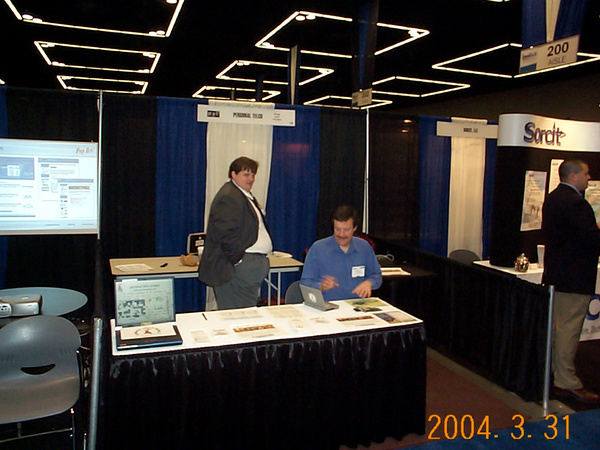 Tom Higgins and Joe McCann at the PTP booth. Note the little libretto.