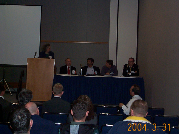 802.16a panel with Nigel Ballard on the right.
